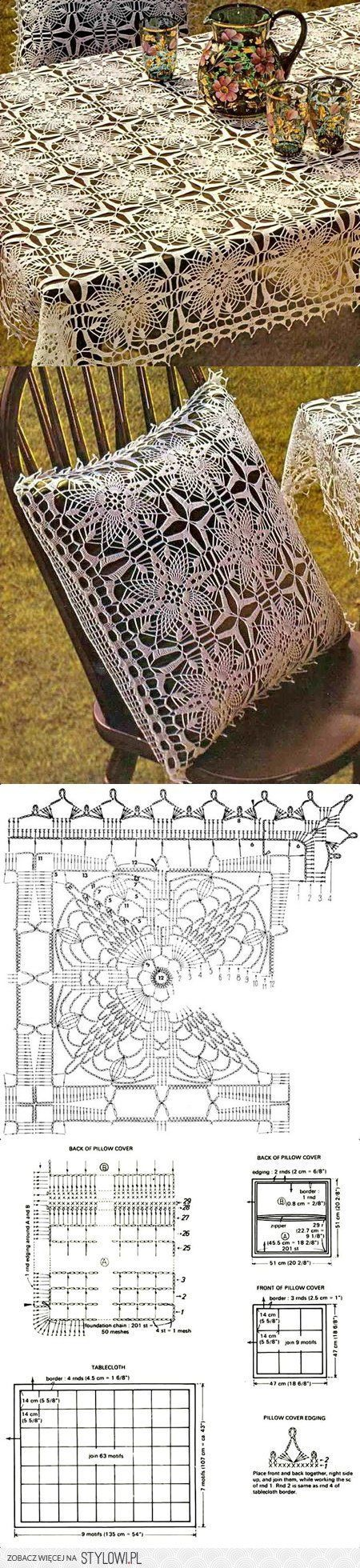 Gráfico para toalhas | Home crochet and knit | Pinterest | Ganchillo ...