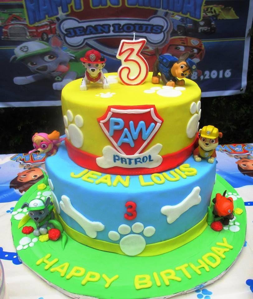 Paw patrol birthday cake paw patrol birthday cake