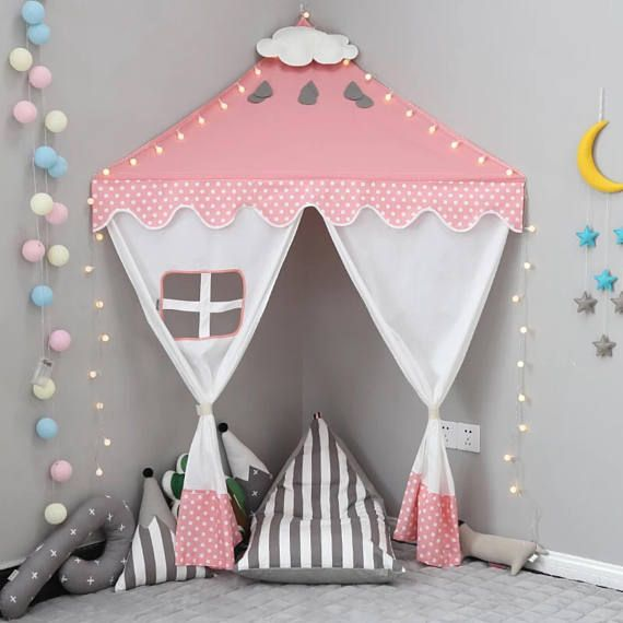 Teepee Kids Playroom Wall Canopy Kids Room Nursery Decor