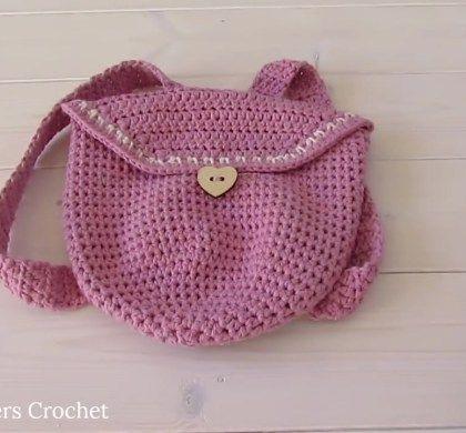How To Crochet An Easy Mini Backpack Crochet Videos Crochet And