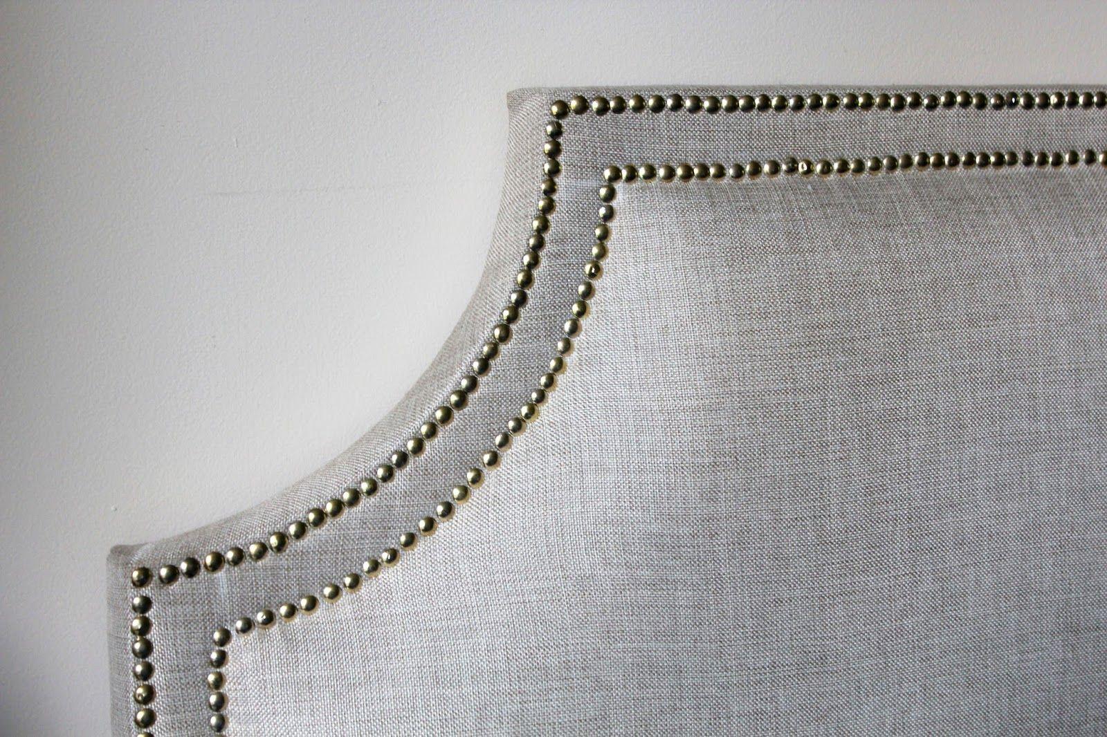 My Decor Education Diy Headboard Upholstered Nailhead Headboard