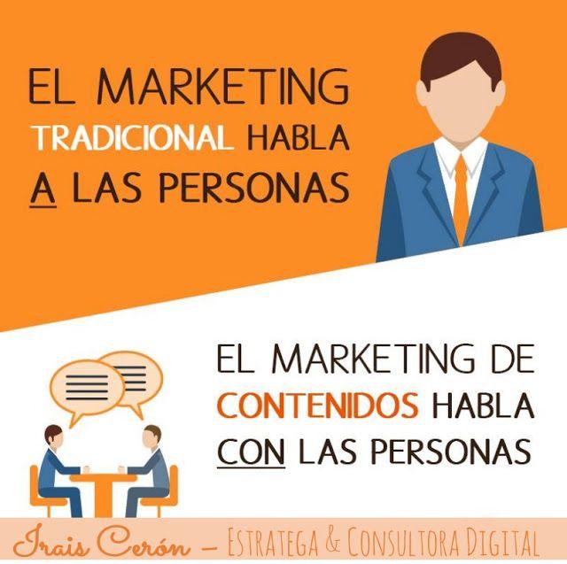 Irais Cerón - Estratega & Consultora Digital. Marketing Tradicional vs Marketing de Contenidos.