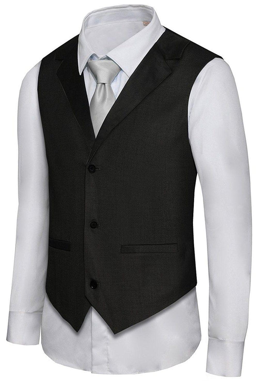 Men S Formal Vest Casual Waistcoat Dress Vests Jackets Vs05 Black Cj12b84f4wh Mens Formal Vest Casual Vest Waistcoat Dress [ 1500 x 999 Pixel ]
