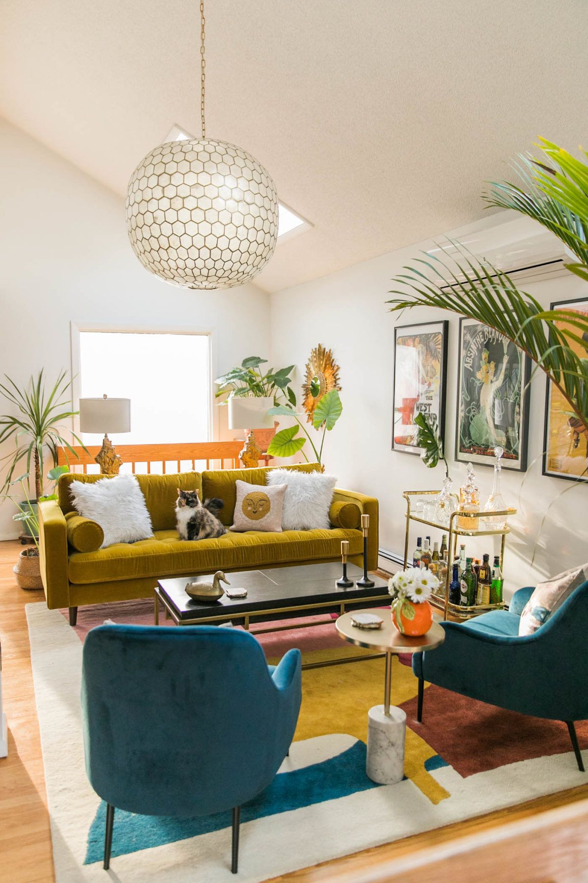 Photo of Vibrant Mid-Century Glam Living Room Refresh – THE REVEAL » Jessica Brigham