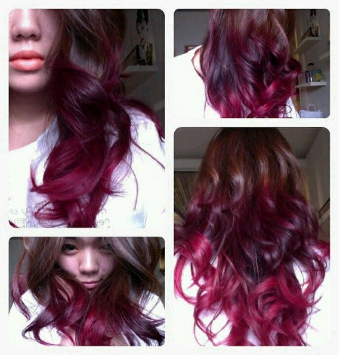 Brown Magenta Ombre Purple Ombre Hair Red Ombre Hair Hair Styles