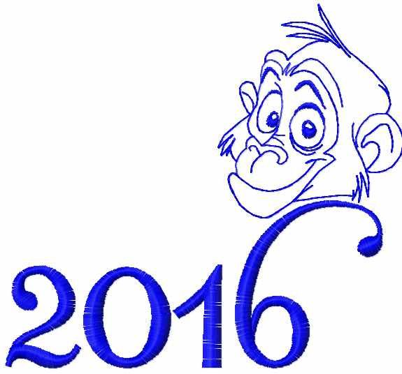 Monkey 2016 Free Embrodiery Design Christmas Free Embroidery