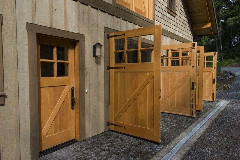 56 Classic Z Brace Outswing Doors Cl05 Entry Door Ecl04 And Loft Door Cl14 On A Barn In Orcas With Images Carriage Doors Garage Door Design Garage Doors