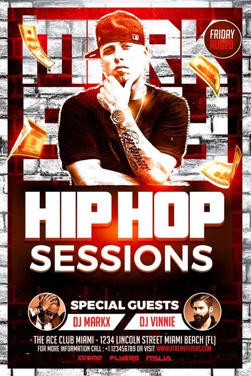 Hip Hop Artist Flyer Template - http\/\/xtremeflyers\/hip-hop - movie night flyer template