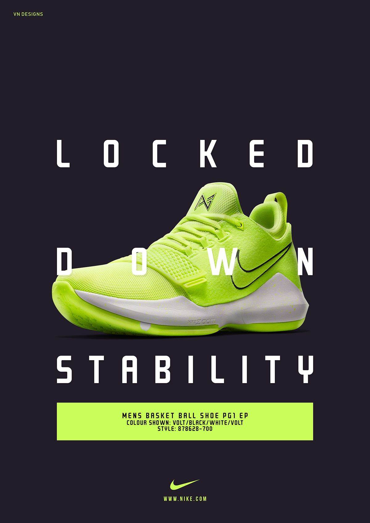 Nike Unofficial Product Poster Ad. on Behance | Sneaker ...