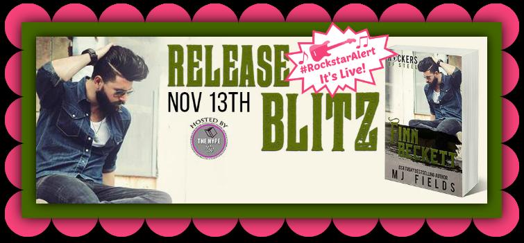 RELEASE BLITZ & EXCERPT: Finn Beckett (Rockers of Steel, #2) by M.J. Fields - #RockstarAlert - iScream Books