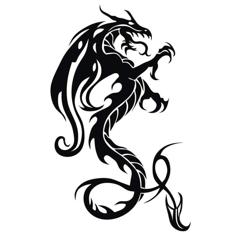 Welsh dragon tattoo designs - Coxa Tribal Dragon 3 Meu Favorito At Agora Queria Modificar S Algumas Cositas Pra