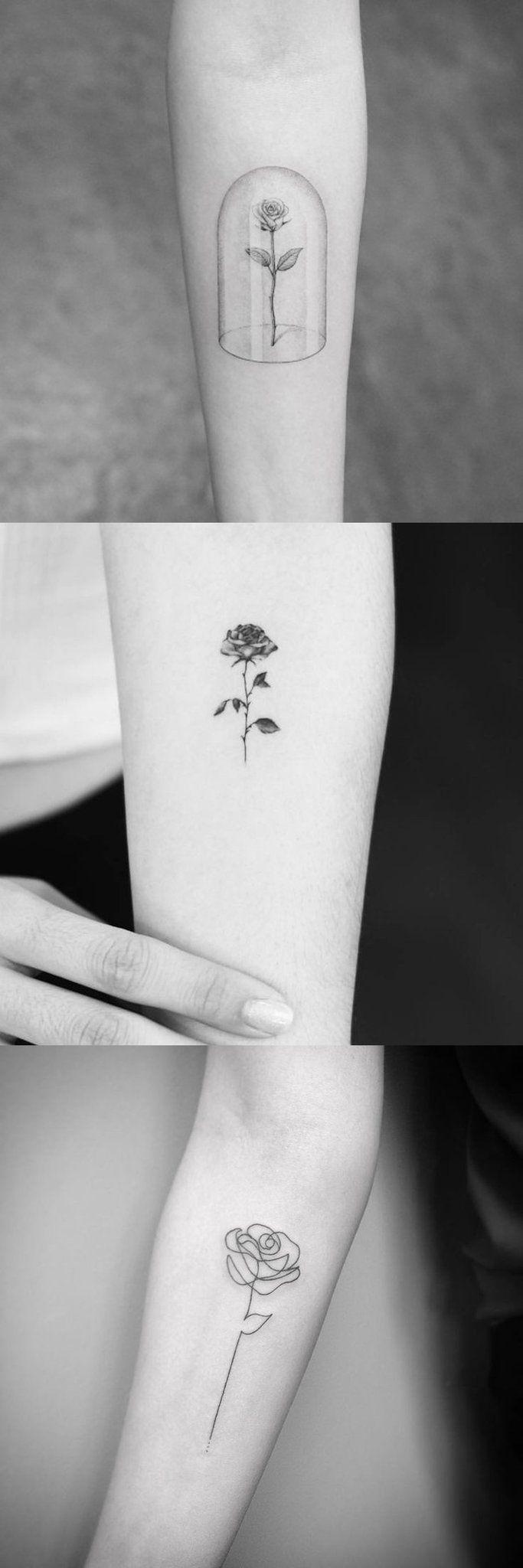 Minimalist Simple Flower Circle Tattoo: 30 Free And Simple Small Tattoo Ideas For The Minimalist