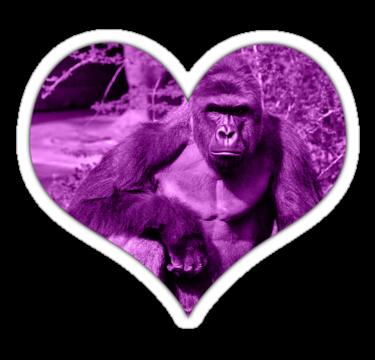 Harambe Love Heart 1