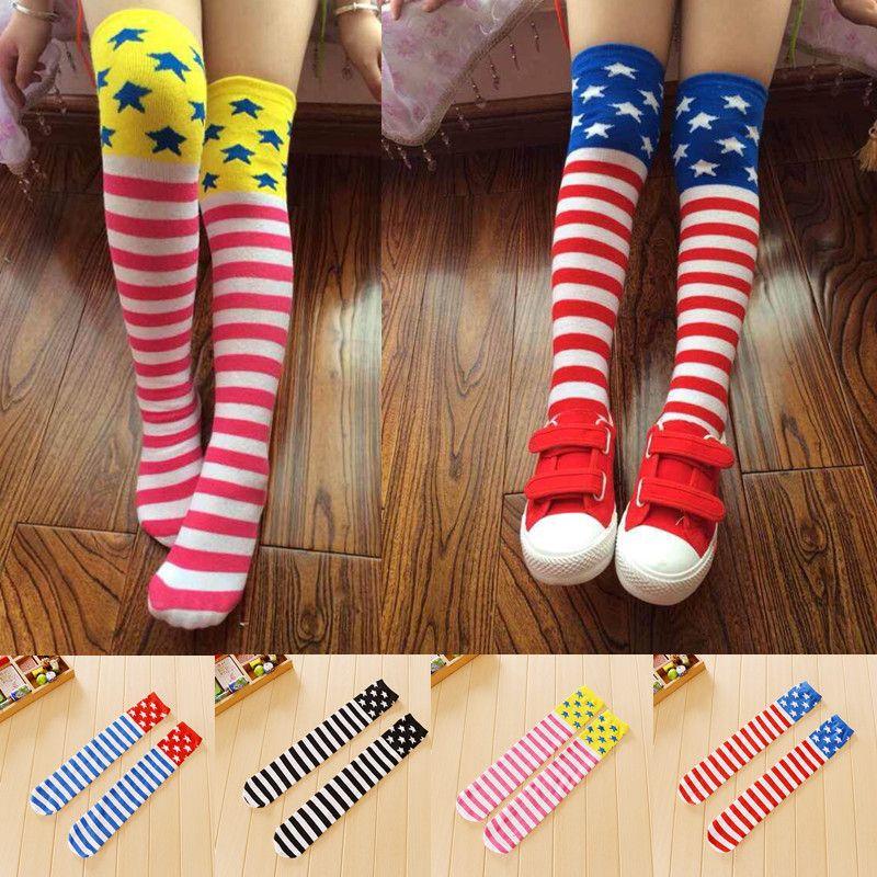 59d552c75 Find More Socks Information about 2016 Kids Knee High Socks Dance Girls  Socks…