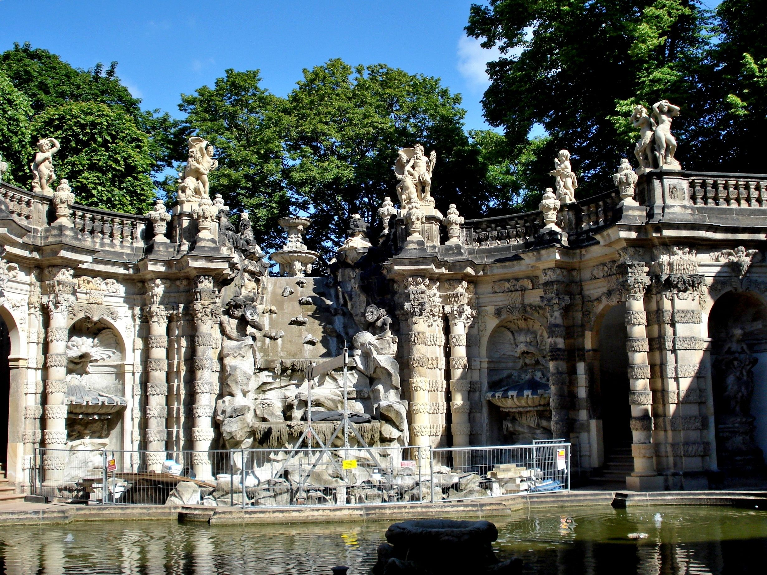 German Rococo Germany Nymphenbad The Zwinger 1710 1719 Dresden By Matthaus Daniel Poppelmann 1662 1736 Sculpture Of The Zwinger Carved By Baltha Rococo
