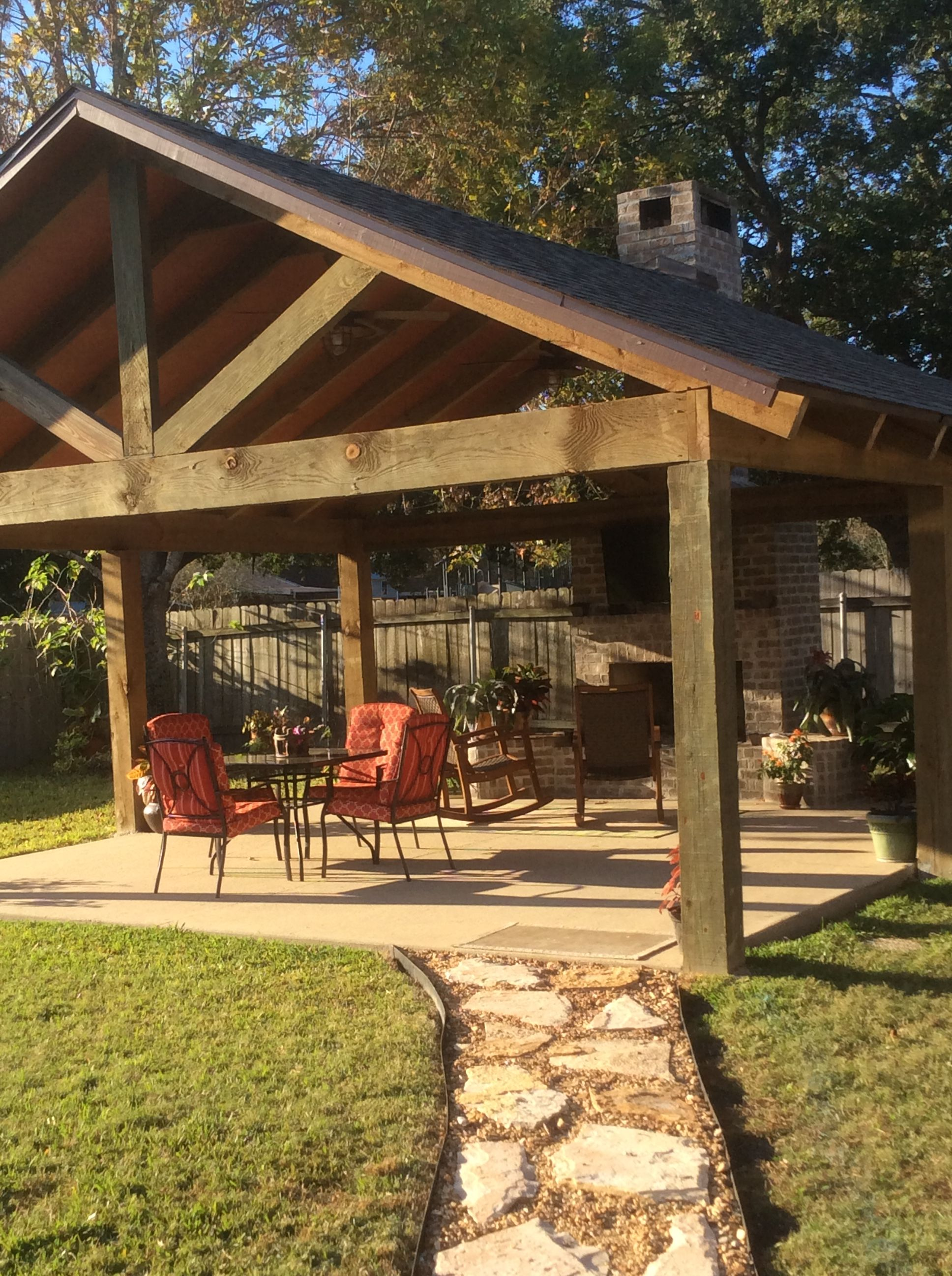 Outdoor Pavilion With Fireplace Backyard Pavilion Outdoor Remodel Outdoor Pavilion