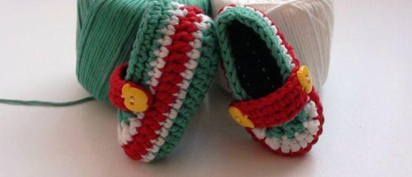 Crochet Toffee Apple Newborn Booties