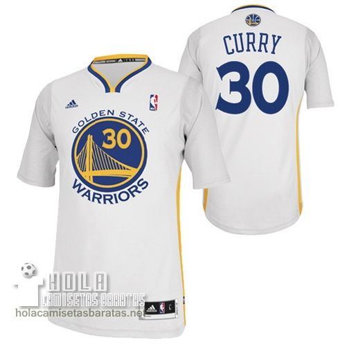 c1f20e7758fc4 Camisetas Nba Baratas 2015 Mangas Swingman Curry  30 Blanco Golden State  Warriors €23.9