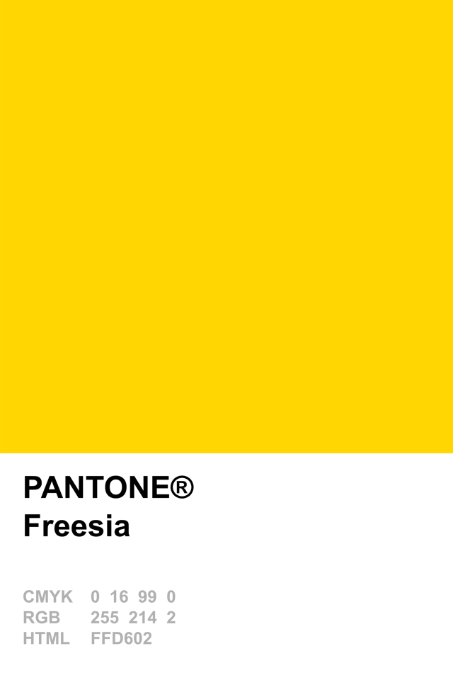 Pantone 2014 Freesia Pantone In 2019 Pantone Color