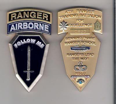 Challenge Coin 4th Ranger Training Battalion ft Benning Absolutely Stunning RARE