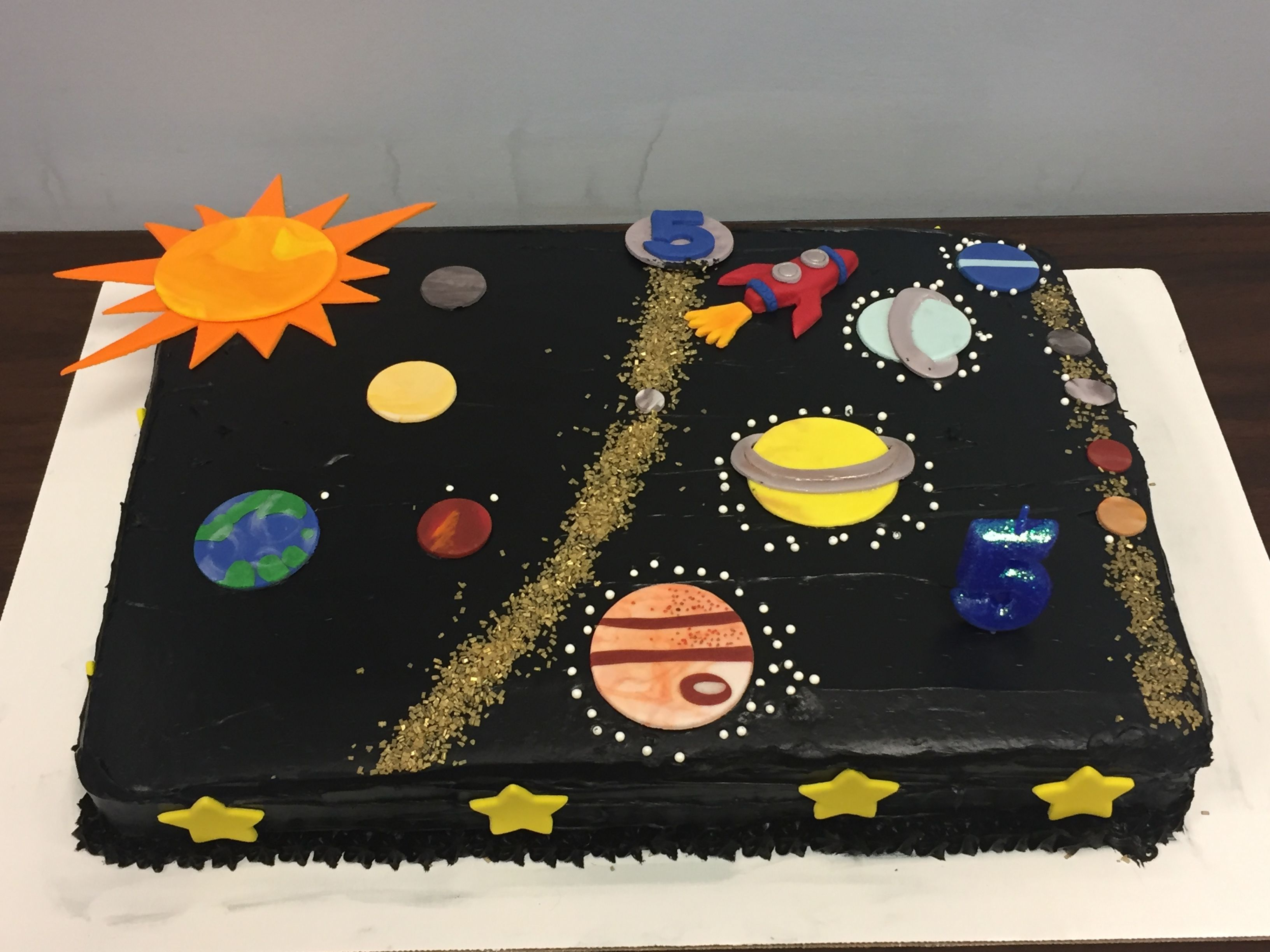 Solar System Birthday Cake With All 8 Planets And 5 Dwarf Planets