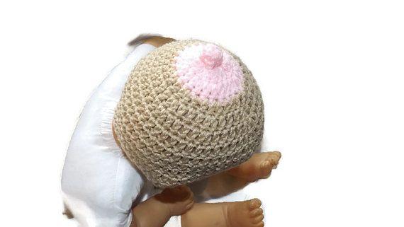 Crochet Breastfeeding Hat by RacysCustoms on Etsy