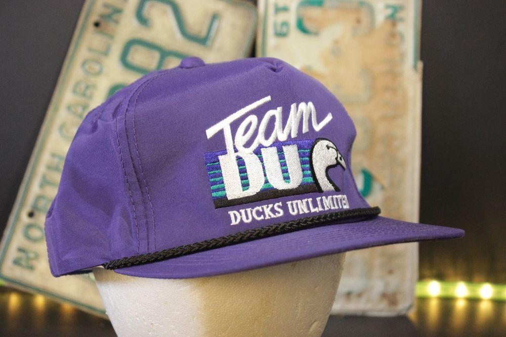 Vintage Ducks Unlimited Snapback Hat Baseball Cap Team DU Purple Retro One  Size  DucksUnlimited  BaseballCap 5d1e742b247