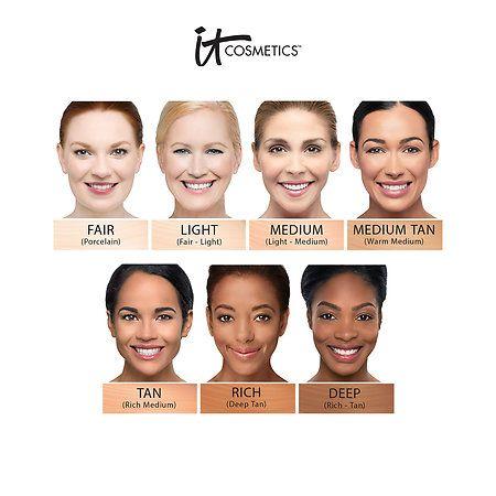 Cc Cream With Spf 50 It Cosmetics Sephora It Cosmetics Cc Cream It Cosmetics Cc Cream Swatches Cc Cream