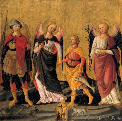Domenico di Michelino - Die drei Erzengel und der junge Tobias