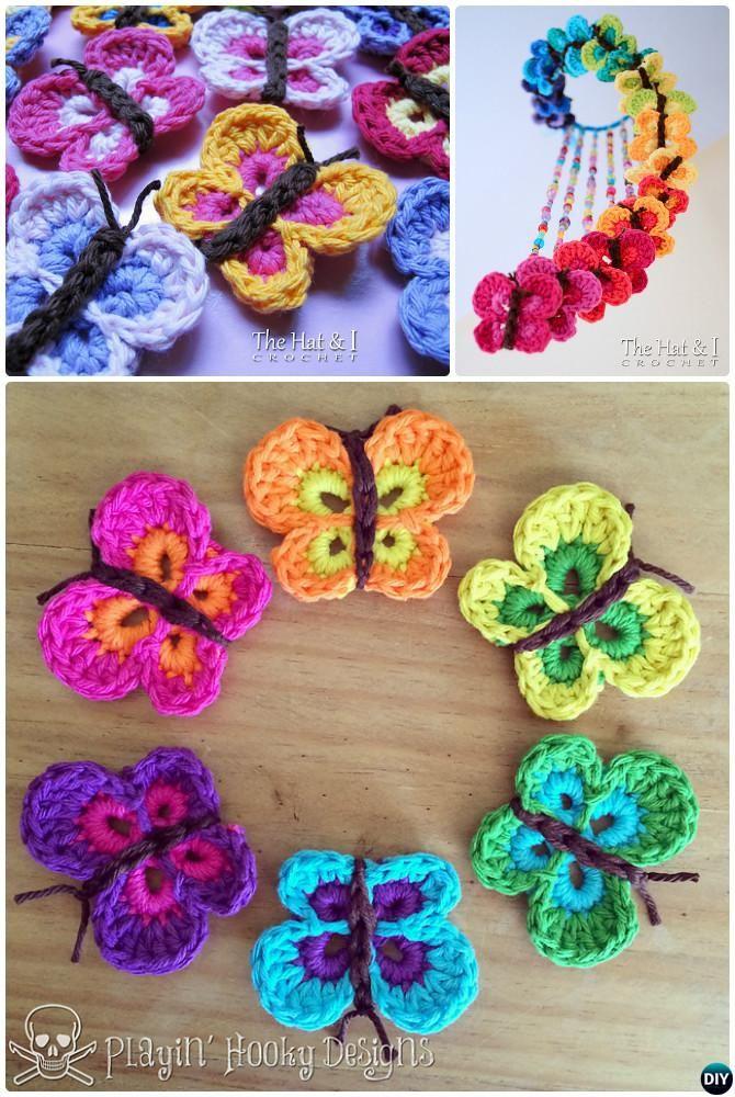 Crochet Bountiful Butterfly Applique Mobile Free Pattern   Crochet ...