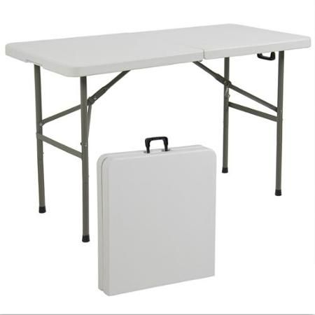 Lifetime 4 Adjustable Folding Table White Granite 80160 With