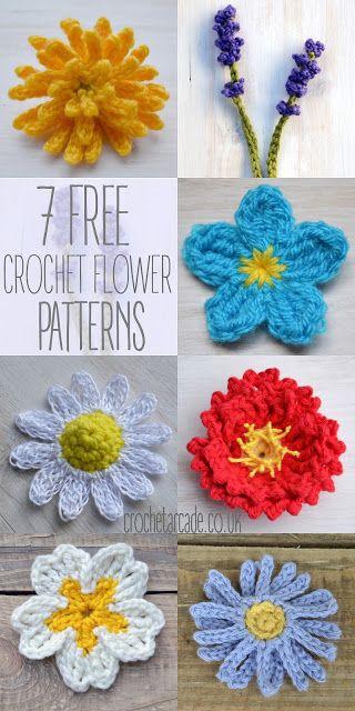 Free Crochet Flower Pattern a day challenge! | Crochet Arcade #flowerpatterndesign