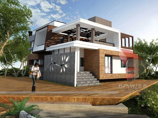 3d Architecture Rendering,ultra Modern Home Architecture