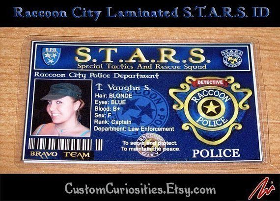 I Want A Raccoon City Police Department Badge Resident Evil Is Like My Fave Game Resident Evil Evil Geek Games