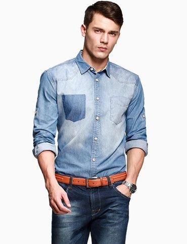 87f26d31 Jeans Shirt Outfits Men Wear denim shirts for men | When your guy ...