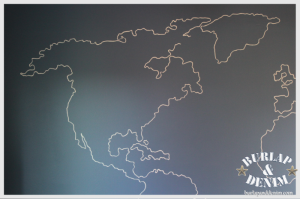 Notes From An Interior Stylist Map Wall Mural World Map