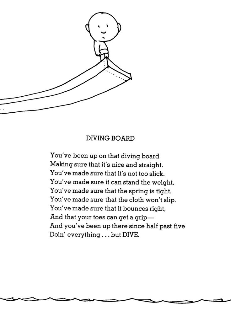 The Diving Board Symbolism And Rhyme Shel Silverstein Poems