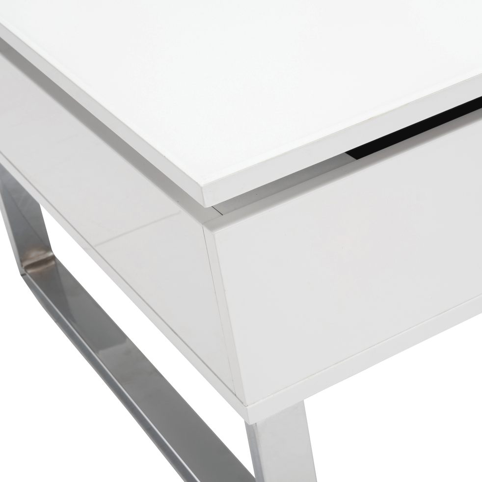 Table Basse Blanche Avec Tablette Relevable Novy Tables