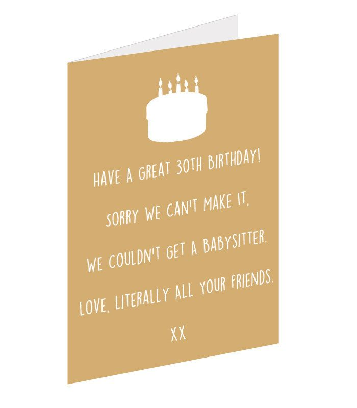 12 Brutally Honest 30th Birthday Cards Quotes Pinterest