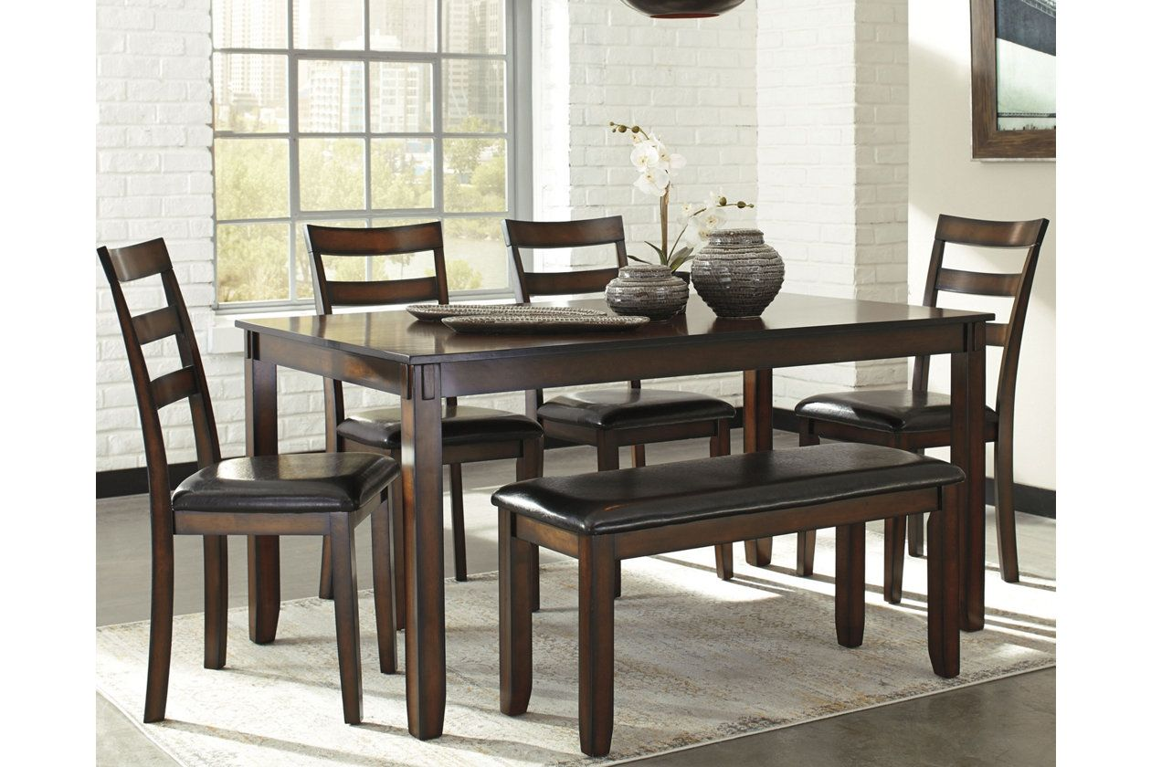 Coviar Dining Room Table And Chairs With Bench Set Of 6 Dining