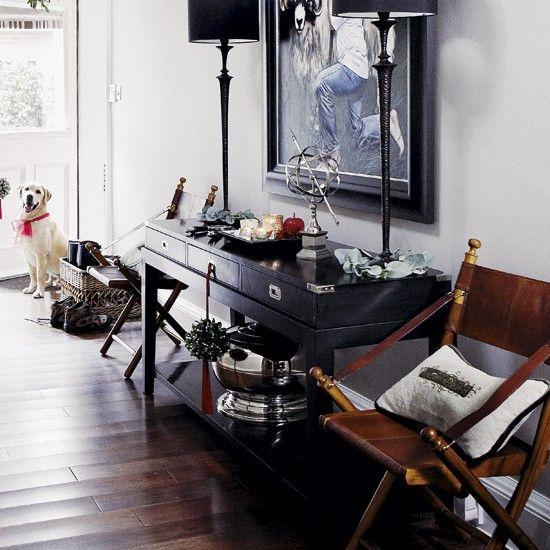 Beautiful Flur Diele Wohnideen Möbel Dekoration Decoration Living Idea Interiors Home  Corridor   Eine Klassische Schwarz Weiß Flur