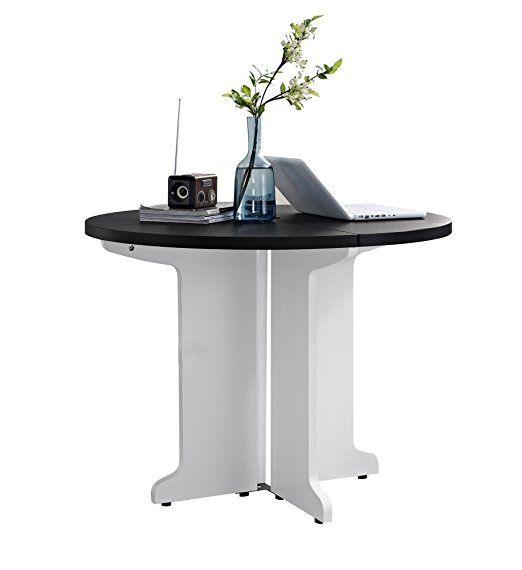 Amazon.com: Altra Pursuit Round Table, White/Gray: Kitchen & Dining