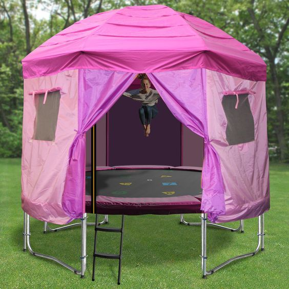 10ft Princess Trampoline Tent Trampoline Tent Kids Trampoline Trampoline Tent Cover