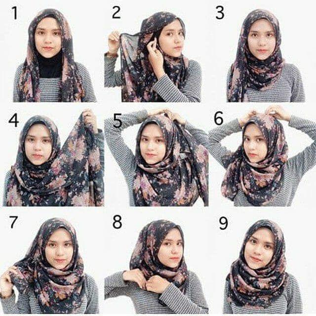 Tutorial Jilbab Terbaru Segi Empat Tutorial Hijab Pashmina Hijab Gaya Hijab