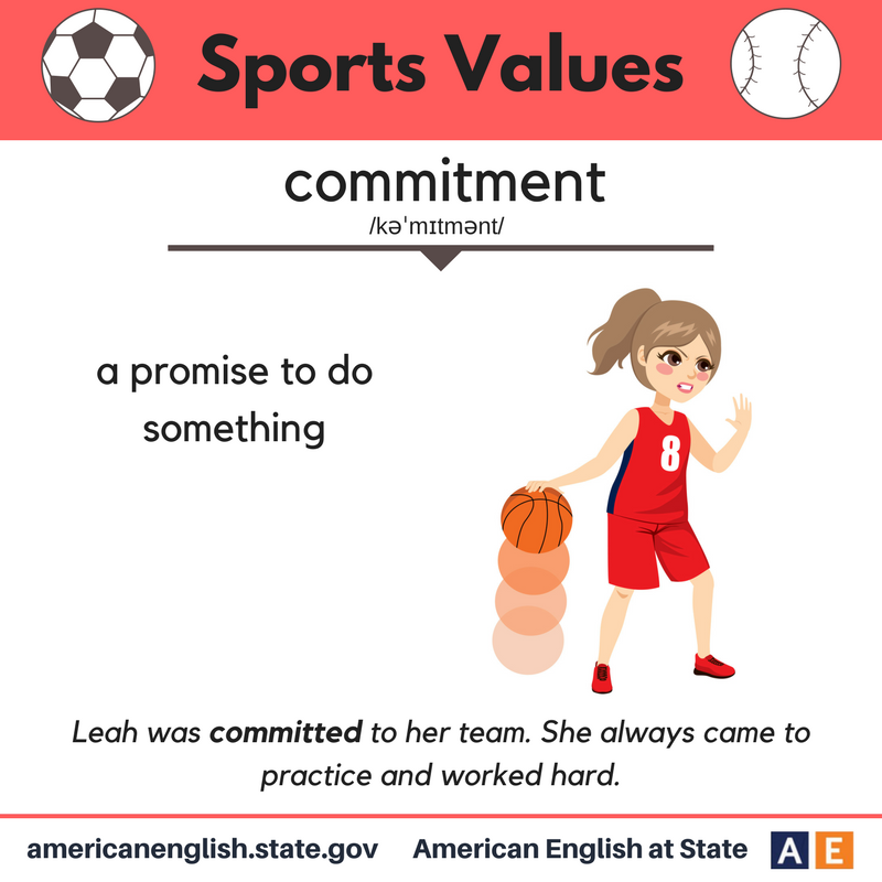 Sports Values Commitment English language learning