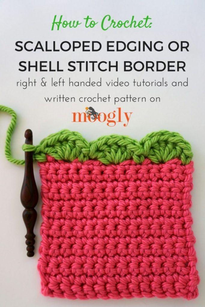 Scalloped Edging Or Shell Stitch Border Crochet Pinterest