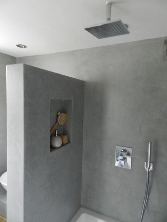 Badkamer inspiratie   Wanden van tadelak, betoncire oid zorgen voor ...