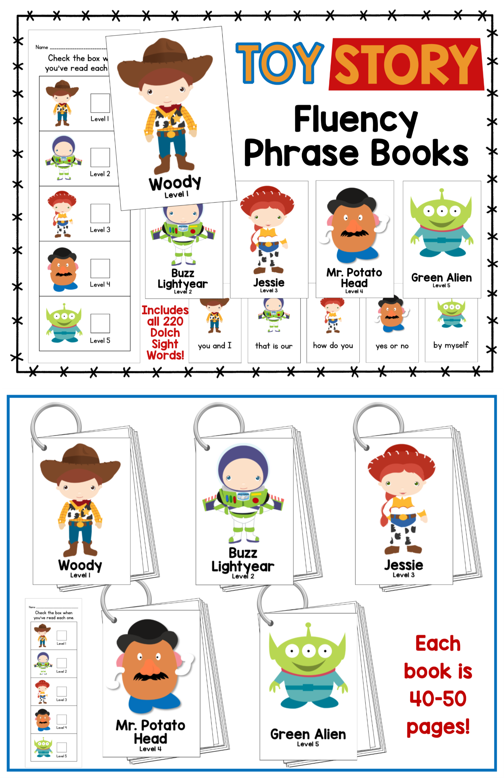 Toy Fluency Phrase Books
