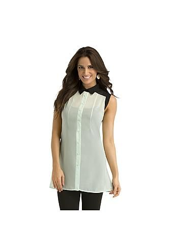 Kardashian Kollection Women's Sheer Tunic