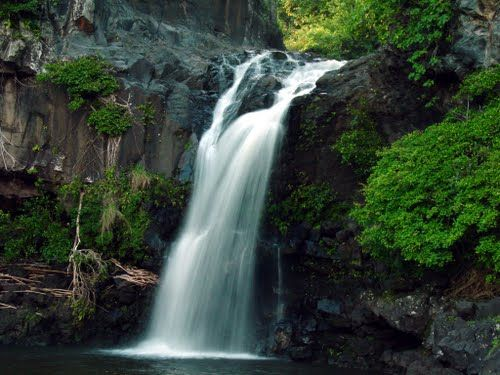 One Of The Falls On The Seven Sacred Pools In Oheo Gulch Maui I Believe This Is The One I Jumped Off Of Hawaii Waterfalls Places Waterfall
